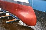 USS Zumwalt sonar dome.jpg