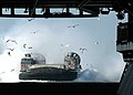 US Navy 050110-N-5313A-004 A Landing Craft Air Cushion (LCAC), assigned to Assault Craft Unit Four (ACU-4), prepares to enter the well deck aboard the amphibious assault ship USS Kearsarge.jpg