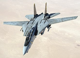Grumman F-14 Tomcat - A U.S. Navy F-14D conducts a mission over the Persian Gulf-region in 2005.