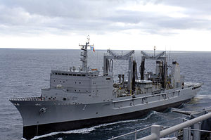 US Navy 070504-N-8861F-015 The Argentine supply ship ARA Patagonia (B 1) participates in exercises alongside dock landing ship USS Pearl Harbor (LSD 52) to mark the beginning of UNITAS