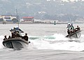 US Navy 070822-N-0066L-009 Inshore boat units assigned to Naval Expeditionary Combat Command (NECC) prepare to board Military Sealift Command fleet replenishment oilier USNS Henry J. Kaiser during a visit, board, search and sei.jpg