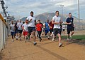 US Navy 080606-N-2838W-162 Sailors stationed aboard the guided missile destroyer USS Bulkeley (DDG-84) take their physical readiness test during their port visit to Souda Bay, Greece.jpg