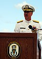 US Navy 081023-N-0995C-047 ear Adm. Townsend Alexander delivers his opening remarks during a change of command ceremony.jpg