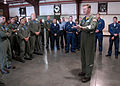 US Navy 090218-N-2491R-023 Capt. Kyle Cozad, Commodore of Patrol and Reconnaissance Wing (CPRW) 11, speaks to Sailors assigned to the.jpg