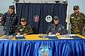 US Navy 100319-N-5086M-076 Vice Adm. John Bird, commander of U.S. 7th Fleet, and Vice Adm. Park, Jung-Hwa, commander of the Republic of Korea Fleet, prepare to sign the Naval Component Base Plan aboard the U.S. 7th Fleet comman.jpg