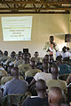 US Navy 100518-N-2221M-018 Vedasto Nsanzugwanko, child protection specialist from the United Nations Children's Fund (UNICEF), speaks to soldiers assigned to Uganda People's Defense Force.jpg