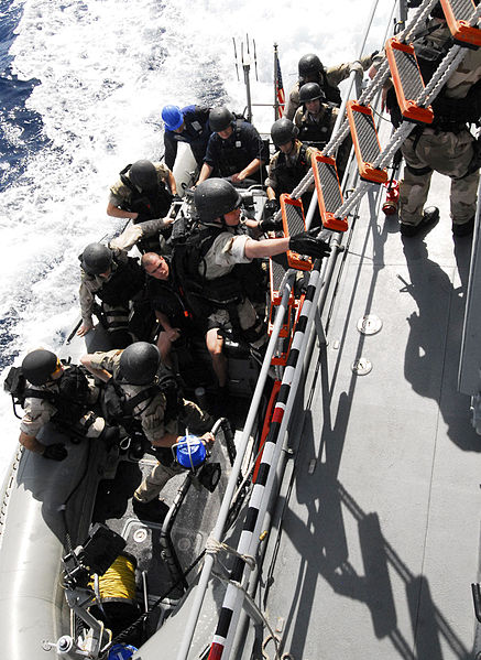 File:US Navy 100623-N-7638K-347 Sailors from the Oliver Hazard Perry-class frigate USS Taylor (FFG 50) visit, board, search and seizure (VBSS) team board the Croatian coast guard vessel Hrvatska Kostajnica (OB-64) during a joint tra.jpg
