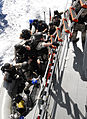US Navy 100623-N-7638K-347 Sailors from the Oliver Hazard Perry-class frigate USS Taylor (FFG 50) visit, board, search and seizure (VBSS) team board the Croatian coast guard vessel Hrvatska Kostajnica (OB-64) during a joint tra.jpg