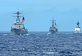 US Navy 100724-N-3659B-222 The Arleigh Burke-class guided-missile destroyer USS Sampson (DDG 102), the Oliver Hazard Perry-class frigate USS Ford (FFG 54).jpg