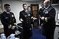 US Navy 110204-N-9818V-427 Japan Maritime Self-Defense Force Capt. Sumio Nagai, commander of Escort Division 15, meets with Cmdr. Dennis Velez, com.jpg