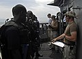 US Navy 110321-N-HI707-258 A Cameroonian navy visit, board, search, and seizure team boards the guided-missile frigate USS Robert G. Bradley (FFG 4.jpg