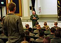 US Navy 110621-N-DX615-004 Capt. Richard W. Butler answers questions from midshipmen about naval aviation.jpg