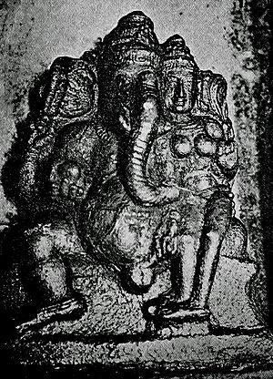 Uchchhishta Ganapati - Uchchhishta Ganapati, Nageswaraswamy Temple, Kumbakonam. The deities touch each other's genitalia.