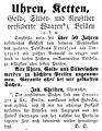 Uetersen Anzeige Joh. Christen Uhrmacher 1886.jpg