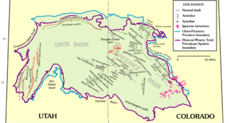 Piceance Basin - Uinta and Piceance Basins geologic map