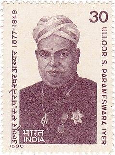 Ulloor S. Parameswara Iyer Indian poet