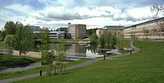 Umeå University Campus pond-2012-06-06.jpg