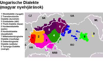 nyelvjárások térkép Magyar nyelvjárások – Wikipédia