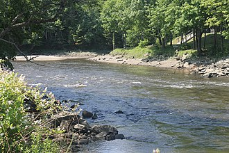 Union River (Maine) - The Union River in Ellsworth, Maine