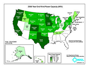 Wind Power In The United States Simple English Wikipedia