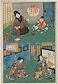 Utagawa Kunisada II - Home of Blind Female Musicians and Giô and Gijo Renouncing the World.jpg