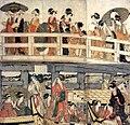 Utamaro (179) Hashi-ue hashi-shita.jpg