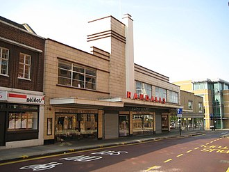 Uxbridge - Randalls department store was built in the Art Deco style.