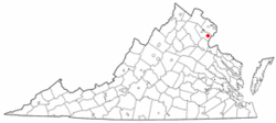 Location of Dale City, Virginia