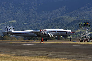 VH-EAG Connie at Illawarra Regional Airport, May 2012.jpg