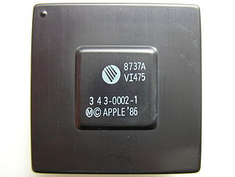 "Memory management unit - VLSI VI475 MMU ""Apple HMMU"" from the Macintosh II used with the Motorola 68020"