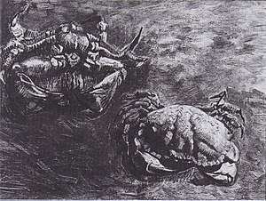 Crab on its Back - Two Crabs (1889)