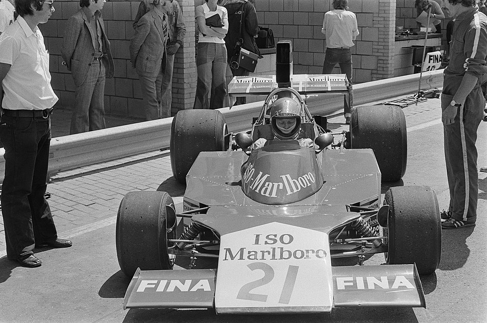 Van Lennep at 1974 Dutch Grand Prix (3)