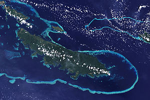 Reef - Reefs off Vanatinai in the Louisiade Archipelago.