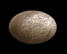 Artist's impression of the Kuiper belt object Varuna as an ellipsoid