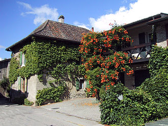 Vich, Switzerland - A winegrower's house in Vich