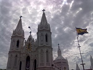 Our Lady of Good Health - Image: Velankanni Main Basilica during Feast