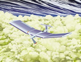 Aerobot - Artist's conception for a Venus airplane