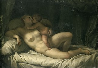 Cupid Kissing Venus (Venus Kissed by Amor)