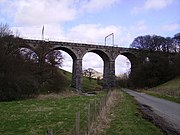 Docker Viaduct carrying the West Coast Main Line near the site of the accident