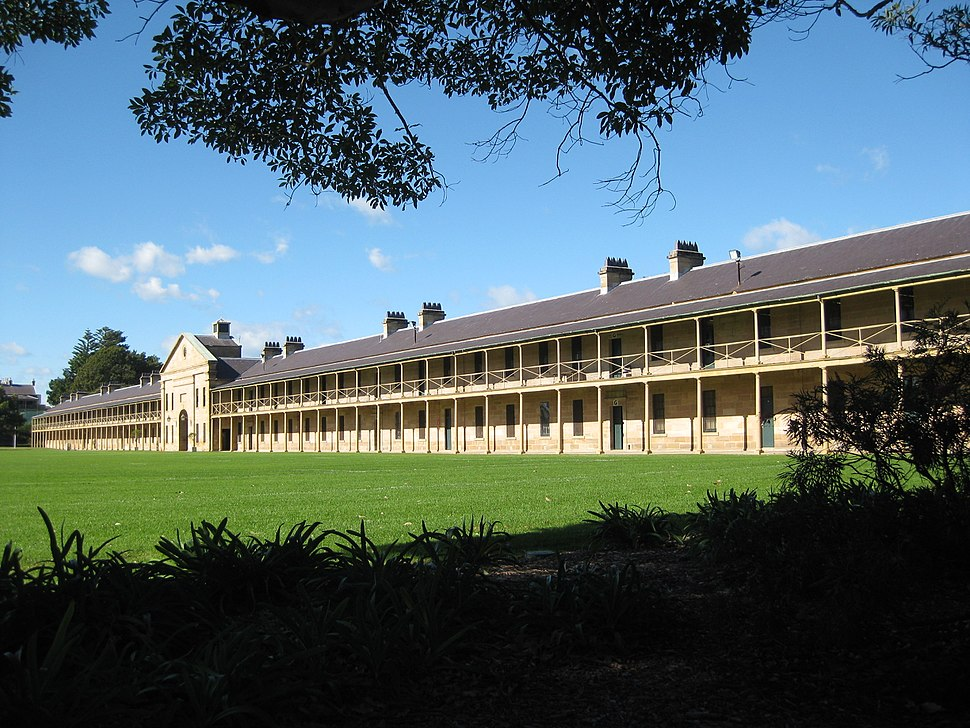 Victoria Barracks looking East