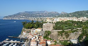 Sorrento - View of Sorrento from above the harbour