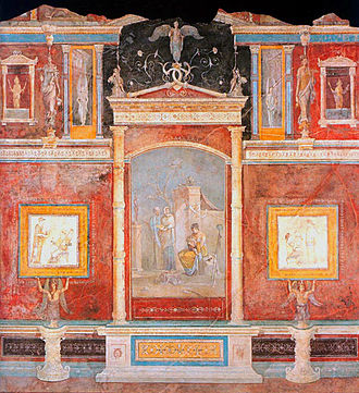Pompeian Styles - Fresco in the Third style, from Casa della Farnesina in Trastevere