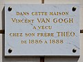 Vincent and Theo Van Gogh plaque - 54 rue Lepic, Paris 18.jpg