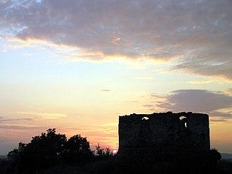 Vynohradiv - The ruins of a castle in Vynohradiv.