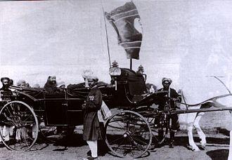Viqar-ul-Umra - Viqar ul-Umara in buggy (1900 c)