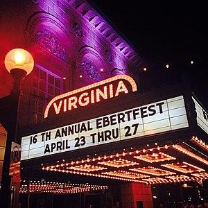 Ebertfest: Roger Ebert's Film Festival - A view of the Virginia Theatre's marquee in 2014 for Roger Ebert's Film Festival
