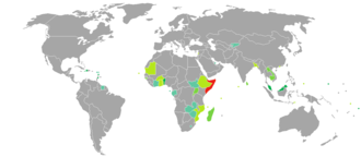 Somali passport - Image: Visa requirements for Somali citizens