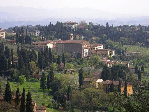 Vista Badia Fiesolana da Monterinaldi, Fiesole