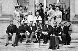 Albert, Duke of Schleswig-Holstein - Prince Albert (bottom row, second from left) with members of his family in May 1900