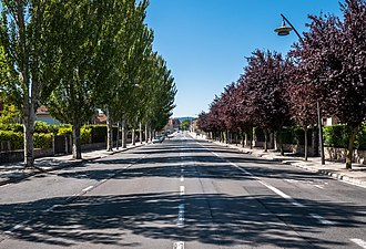 Vitoria-Gasteiz - Portal de Betoño Street in August. Vitoria-Gasteiz, Basque Country, Spain